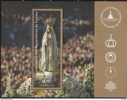 2017 Luxemburg Mi. Bl 37 Used  100. Jahrestag Der Marienerscheinung Von Fatima