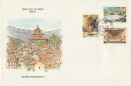 NEPAL 1978 FDC Scenes From Nepal. - Nepal