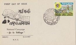 NEPAL 1967 FDC National Campaign. - Nepal
