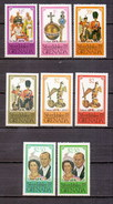 Grenada 1977 Silver Jubilee Queen Elizabeth Different Color Variety (8v) MNH (M-106)