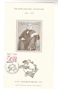 UPU CONGRESS DAY BRASILIANA Souvenir Sheet (Blue Inscription) ROWLAND HILL CENTENARY  BRAZIL Stamps - Brazilië