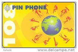 Thailand Pin Phone 108 Phonecard   Kat.006 Globe  Globus - Thaïland