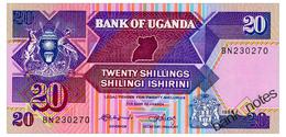 UGANDA 20 SHILLINGS 1988 Pick 29b Unc - Uganda