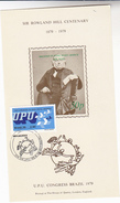 UPU CONGRESS DAY Blue Stamps BRAZIL Souvenir Sheet ROWLAND HILL  FLYING POST OFFICE - Brazil