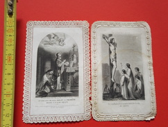 Ancienne Image Pieuse Canivet Dentelle Religieuse - Religion & Esotericism