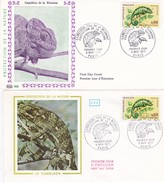 N°1692 De 1971 - Lot De 2 FDC  1er Jour  -  Caméléon De La Réunion  - - 1970-1979