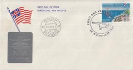 Nederlandse Antillen - FDC E18 - Herdenkingszegel - NVPH 322 - Zonder Adres - Curaçao, Nederlandse Antillen, Aruba