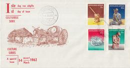 Nederlandse Antillen - FDC E20 - Cultuurzegels - NVPH 325 - 328 - Curaçao, Nederlandse Antillen, Aruba