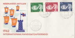 Nederlandse Antillen - FDC E22 - Internationaal Schaaktoernooi - Schaken/Schach/chess - NVPH 330-332 - Schaken