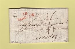 Beauvais - 58 - Oise - Courrier De 1822 - Marcophilie (Lettres)