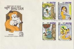 BHUTAN 1985 FDC Rapunzel THE BROTHERS GRIMM. - Bhutan