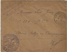 "1917- Enveloppe D' HESDIN ( P. De C. ) En F M  ""-S G V C  -secteur ETAPLES-HESDIN  * REGION DU NORD "" - Guerre De 1914-18"