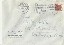 BDR CV 1965 Frankfurt Messe - Covers & Documents