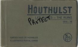 HOUTHULST :  CARNET : 9 Cartes :  Guerre- Oorlog  1914-1918  :  Les Ruines ( Voir Scans ) Cimetière Alllemand - Houthulst