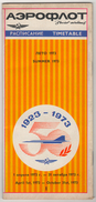 AEROFLOT SOVIET  AIRLINES 1973 SUMMER TIMETABLE 28 PAGES - Timetables
