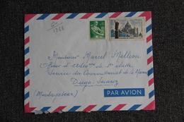 Lettre Envoyée De TOULON à DIEGO SUAREZ - MADAGASCAR ( Poste Aérienne). - - France