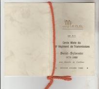 MENU PROGRAMME SOIREE SAINT SYLVESTRE 1979/80 CERCLE MIXTE 28° REGIMENT DES TRANSMISSIONS ORLEANS LOIRET - Menus