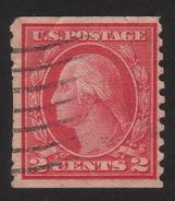 1915 US, 2c Stamp, Used, George Washington, Sc 454 - Vereinigte Staaten