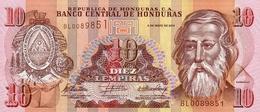 Honduras P.86e 10  Lempiras 2010 Unc - Honduras