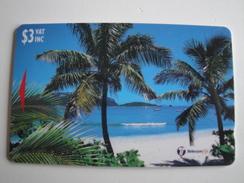 1 GPT Phonecard From Fiji Islands -Beach With Coconut Trees - 26FIB (0)