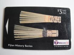 1 GPT Phonecard From Fiji Islands - History - 23FJB (long Number) (0)