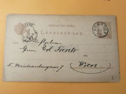 Versec Versecz Vrsac Hungary Serbia Wien Austria Postcard 1887 - Serbia