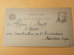 Báziás Bazias Hungary Romania München Germany Postcard 1897 - Roumanie