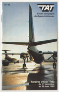 TAT  EXPRESS RESEAU NATIONAL AIRLINES 1982 WINTER TIMETABLE 24 PAGES - Timetables