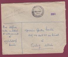 FRANCE- 290417 - Lettre Franchise Soldat Français Interné En SUISSE Mühledorf Camp Militaire D'internement - Postmark Collection (Covers)