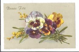16671 - Bonne Fête Bouquet De Pensées Par Klein - Klein, Catharina