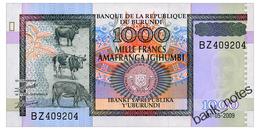 BURUNDI 1000 FRANCS 2009 Pick 46 Unc - Rwanda