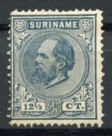 Surinam, Suriname, 1883, King Willem III, Unused No Gum, Thin Spot, Michel 16 - Surinam