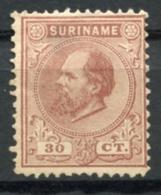 Surinam, Suriname, 1889, King Willem III, Unused No Gum, Michel 19 - Surinam