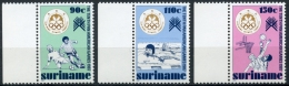 Surinam, Suriname, 1987, Pan American Games, Sports, Soccer, Football, Basketball, MNH, Michel 1214-1216 - Surinam