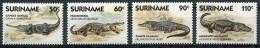 Surinam, Suriname, 1988, Crocodiles, Alligators, MNH, Michel 1248-1251 - Surinam