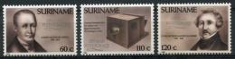 Surinam, Suriname, 1989, 150 Years Of Photography, MNH, Michel 1309-1311 - Surinam