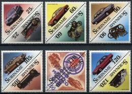 Surinam, Suriname, 1989, Cars, Automobiles, MNH, Michel 1294-1305 - Surinam