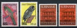 Surinam, Suriname, 1991, Birds, Buildings, MNH Overprinted, Michel 1361-1364 - Surinam
