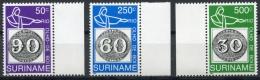 Surinam, Suriname, 1993, Brasiliana Stamp Exhibition, MNH, Michel 1450-1452 - Surinam