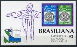 Surinam, Suriname, 1993, Brasiliana Stamp Exhibition, MNH, Michel Block 60 - Surinam