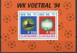 Surinam, Suriname, 1994, Soccer World Cup USA, Football, MNH, Michel Block 62 - Surinam