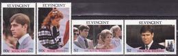 ST VINCENT 1986 PRINCE ANDREW WITH SARAH FERGUSON ROYAL WEDDING  MNH** - Royalties, Royals