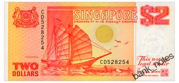 SINGAPORE 2 DOLLARS ND(1990) Pick 27 Unc - Singapore