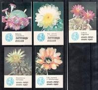 UdSSR 1985, 9 Taschenkalender Kaktusmotive, Naturschutz / USSR 1985, 9 Pocket Calendars, Cactus Motifs, Prot. Of Nature - Other