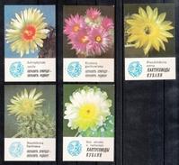 UdSSR 1986, 5 Taschenkalender Kaktusmotive, Naturschutz / USSR 1986, 5 Pocket Calendars, Cactus Motifs, Prot. Of Nature - Sonstige