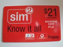 1 Remote Phonecard From Fiji Islands - Vodafone