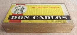 TABAC  )    BOITE  A  CIGARES  -   DON CARLOS - Déchets De Havane  Succes  -   En Bois - Contenitore Di Sigari