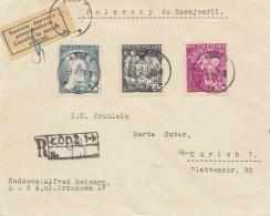 Polen: 1939: Einschreiben Lodz Nach Zürich - Kontrolliert