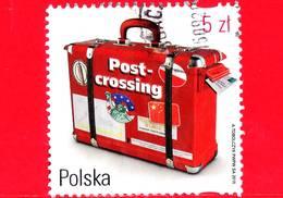 POLONIA - Usato - 2016 - Valigia Come Cassetta Postale - Postcrossing - 5