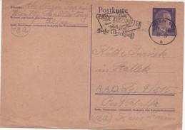 """Germany 1945, Wien (occupied Austria) Postcard To R.A.D.  Schaffa, Sudetenland,  Machine Cancel """"Nur Gemau Anschriften."""" - Germany"""